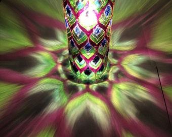 boho lamp,Bohemian Hanging Lantern,bottle lamp,shadow lamp,gypsy lamp,gypsy decor,glass art,lamp,lantern,stained glass lantern,boho decor