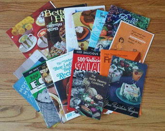 Lot of 16 Vintage Cooking Kitchen Pamphlets Mid Century