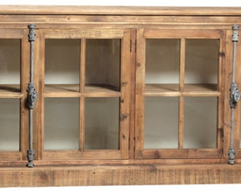 Media Console, Bookcase, Bookshelves, Reclaimed Wood, Console Table, Console CabinetHandmade