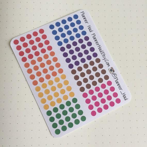 Dot Calendar Bullet Journal : Bullet journal dot stickers by purpleplannerpaperie on etsy