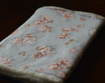 Floral burp cloth