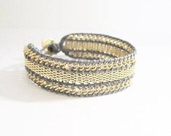 Gray Chain Bracelet