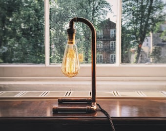 Copper Pipe Lamp - 'The Barrington' - by CliftonCopperCo
