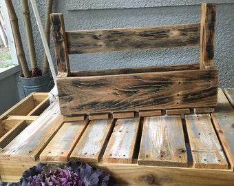 Vintage Wine Rack Made from Old Solid Wood Pallets.