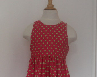 Child dress back neckline in V T 2, 4 and 6 years