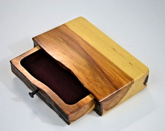 Live-edge hickory trinket box 3
