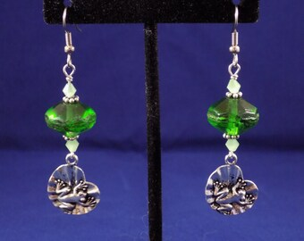 Life on a Lilypad earrings