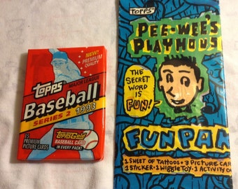 Set of Topps 1993 Baseball cards and Pee Wee Herman cards