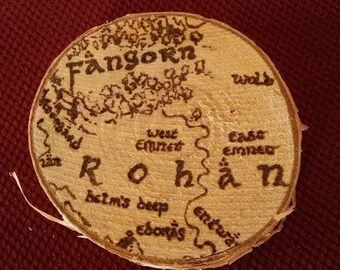 Birchwood Rohan Map Detail Coaster