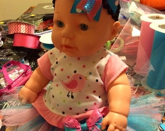 Baby Doll Tutu with Matching Headband Set