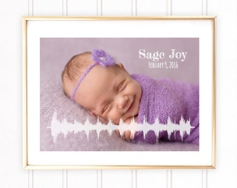 Custom Heartbeat Sound Wave Art, Baby Heart beat Soundwave, Baby Room Decor, Custom Baby Room Decor, SoundWave Wallart, Baby Heart Beat