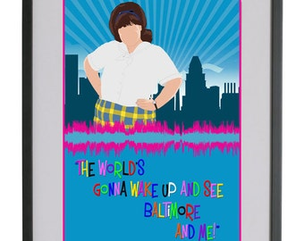 Hairspray The Musical A4 Sound Wave Art Print - Tracy Turnblad - Good Morning Baltimore