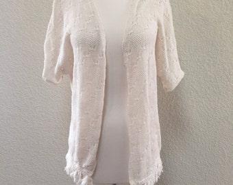 1970s Fringe Knit Kimono