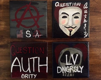 Anarchy-Inspired Coaster Set