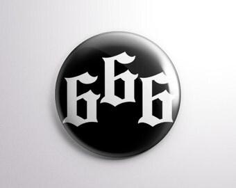 """666 - 1"""" Pinback Button"""