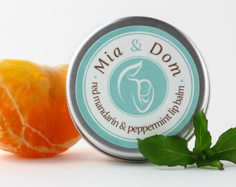 Organic Lip Balm - Red Mandarin & Peppermint