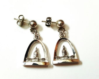 Vintage Gateway Arch St. Louis Earrings