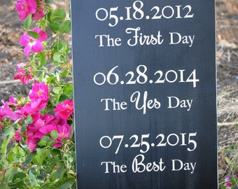 What a Difference a Day Makes Wedding Sign, carved wooden sign