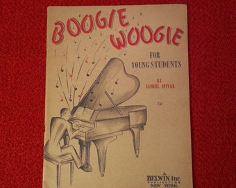 Vintage Sheet Music Boogie Woogie For Young Students by Samuel Spivak 1944 32 pages
