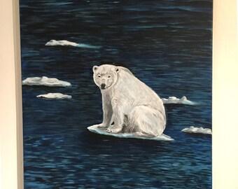 Polar bear, Acrylic painting on canvas