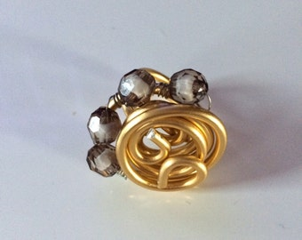 Ring fantasy Golden aluminium wire