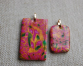 "Set of 2 pendants ""Autumn in Nara"""