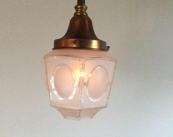A8455 Antique Brass Pendant Ceiling Lights (set of 3)