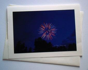 Set of 5 - Fireworks Photo Card