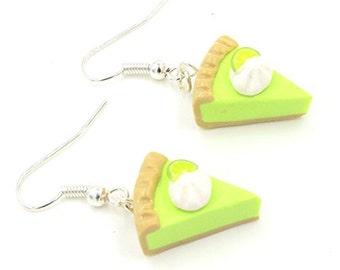 Key Lime Pie Polymer Clay Earrings