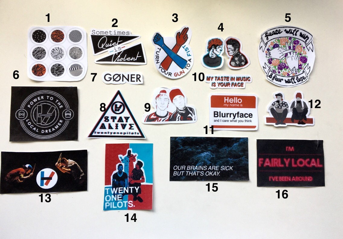 Twenty One Pilots Pack Stickers On The Hunt