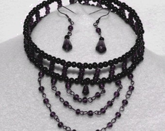 A13 choker / earrings set