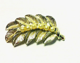Booch-Gold Leaf and Pearls FREE SHIPPING