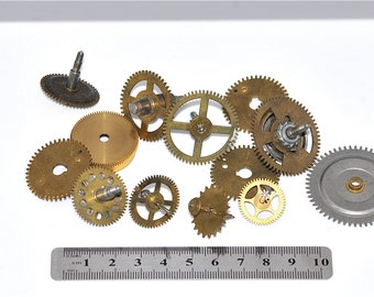 Large Clock Gears , Cogs, Parts, To UPcycle