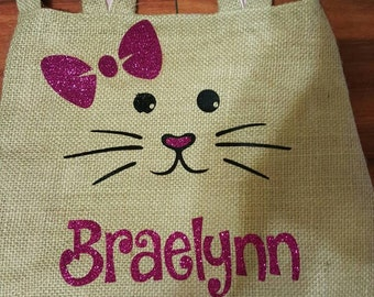 Easter bunny ear burlap bags