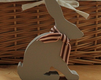 Wooden Baby Hare Silhouette