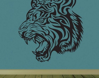 Tiger Wall Decal - Vinyl wall graphic