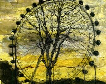 THE WHEEL - London Eye Giclee Fine Art Print