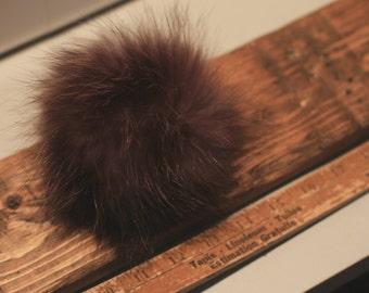4 recycled fur Pompom