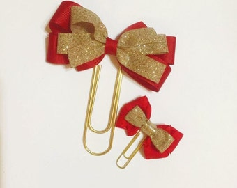Red and Gold Paper Clip