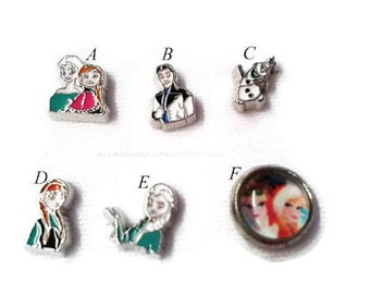 Inspired Elsa, Anna, Hanz, Olaf Floating Charms, Floating Charms, Floating Lockets