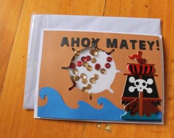 Ahoy Matey! Pirate Card