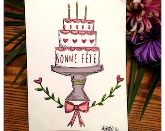 Day card - Bohemian cake