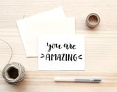 PRINTABLE You are amazing Folded Card  | 5.5x4.25"