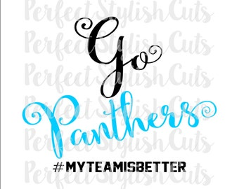 Go Panthers SVG, DXF, EPS, png Files for Cutting Machines Cameo or Cricut - Super Bowl svg, Carolina Panthers svg, Superbowl 50 svg