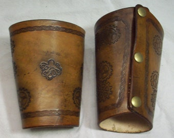 leather steampunk wristlet, bracer, steampunk, steamgoth, edwardian, neo victorian