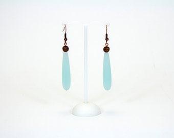 Long earrings drops pastel