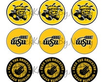 INSTANT DOWNLOAD Wichita State Shockers Bottle Cap Image Sheet | Digital Image | 4x6 Sheet with 15 Images