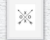 Arrow Art, Black and Whit...