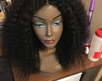 Custom made Full wig with lace closure