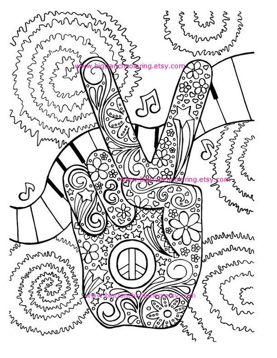 It is an image of Priceless Coloring Pages Hippie